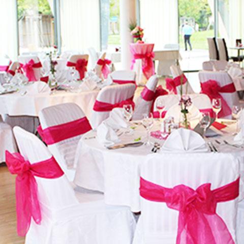 Hochzeit viba nougat welt for Saaldekoration hochzeit
