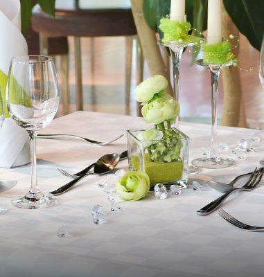 Tischdekoration Familien Feier