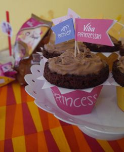 Nougat Muffins zur Kinderparty