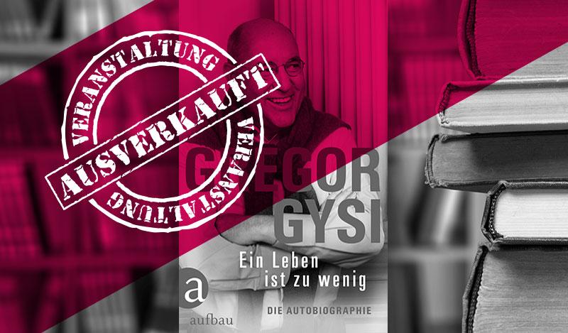 Gregor Gysi Talkabend – ausverkauft