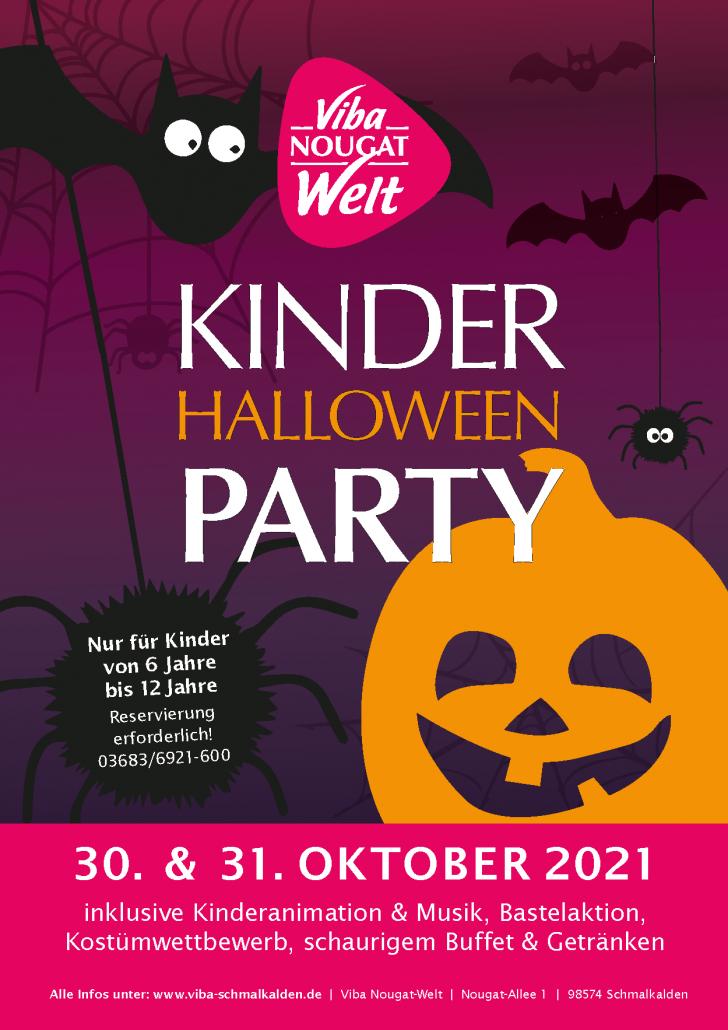 Flyer Kinder Halloween Party in der Nougat-Welt